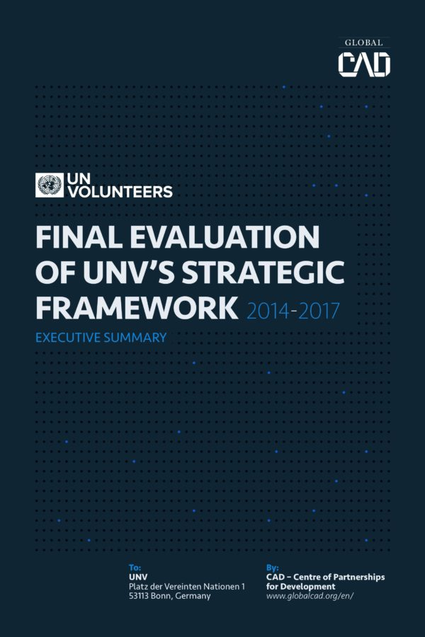 Implementation and Progress of the UNV's Strategic Framework And Global Programmes
