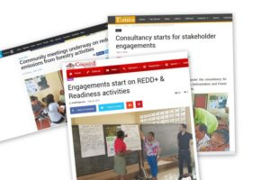 Community engagements driven by CAD, reported in the most read press outlets of Guyana