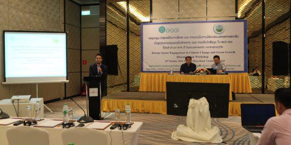 Participación del sector privado en el crecimiento verde y el cambio climático en Laos